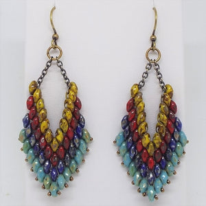 Trapeze Earrings - Earthen