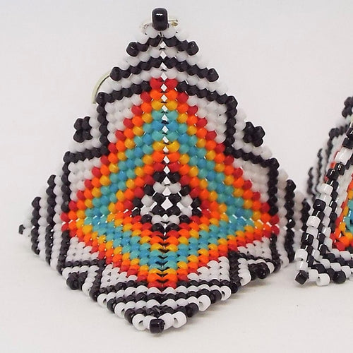 Tribal Origami Earrings, Large