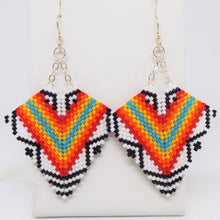Tribal Deco Diamond Earrings, Large