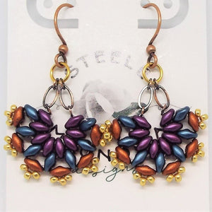 SuperFan SuperDuo Earrings - Southwest Purple