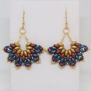 SuperFan SuperDuo Earrings - Southwest