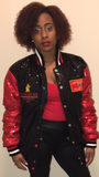 Tuskegee University Women's Sequins Collegiate Jacket