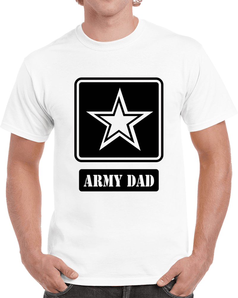 Happy Father's Day Army Dad  - White T Shirt - melangebyojo