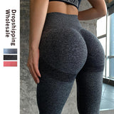 High Waist Seamless Leggings Push Up Leggins Sport Women Fitness Running Gym Pants Energy Workout Stretchy Sport Girl Activewear - Mélange Paris