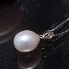 natural freshwater pearl jewelry set pendant drop earrings