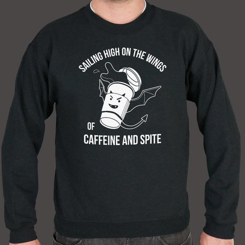Sailing High On The Wings Of Caffeine And Spite Sweater (Mens) - melangebyojo