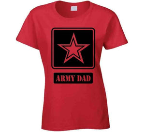 Happy Father's Day Army Dad  - Red T Shirt - melangebyojo