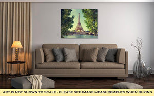 Gallery Wrapped Canvas, Eiffel Tower Paris France - melangebyojo