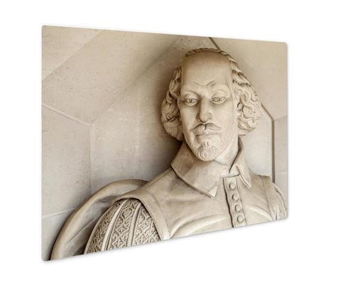 Metal Panel Print, Portland William Shakespeare Sculpture In London