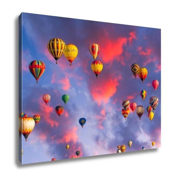 Gallery Wrapped Canvas, Balloons Over Albuquerque - melangebyojo