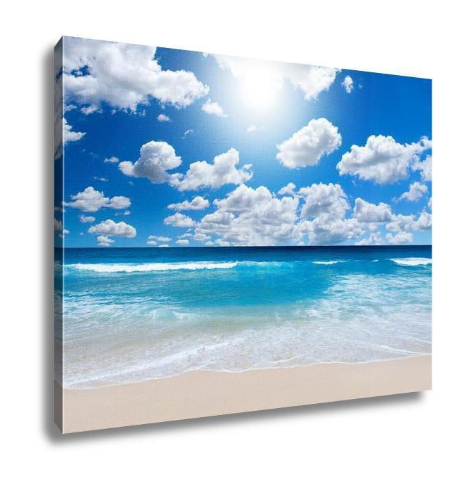 Gallery Wrapped Canvas, Gorgeous Beach Landscape - melangebyojo