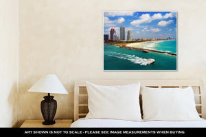 Gallery Wrapped Canvas, Aerial View Of South Miami Beach - melangebyojo