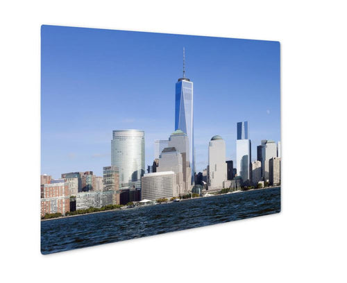 Metal Panel Print, New York City Downtown W Freedom Tower 2014