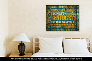 Gallery Wrapped Canvas, Kentucky State Cities List - melangebyojo