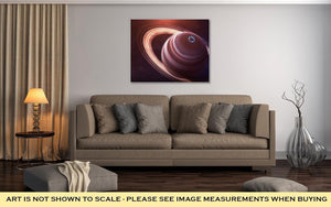 Gallery Wrapped Canvas, Saturn High Resolution Best Quality Solar System Planet All The Planets - melangebyojo