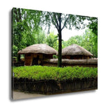 Gallery Wrapped Canvas, Korean Village In Summer By Eyes Of Tourist - Mélange Paris