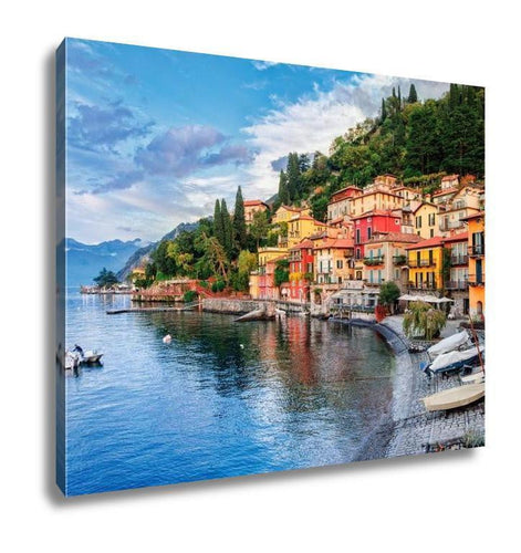 Gallery Wrapped Canvas, Town Of Menaggio On Lake Como Milan Italy - melangebyojo