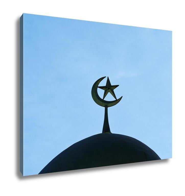 Gallery Wrapped Canvas, A Silhouette Of A Mosque In Thailand - melangebyojo