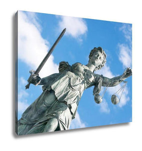 Gallery Wrapped Canvas, Lady Justice Frankfurt - melangebyojo