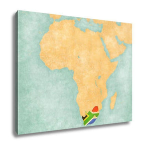 Gallery Wrapped Canvas, Map Of Africa South Africa - melangebyojo