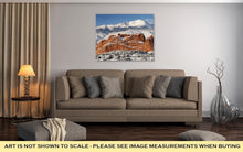 Gallery Wrapped Canvas, Pikes Peak And The Gardern Of The Gods - melangebyojo