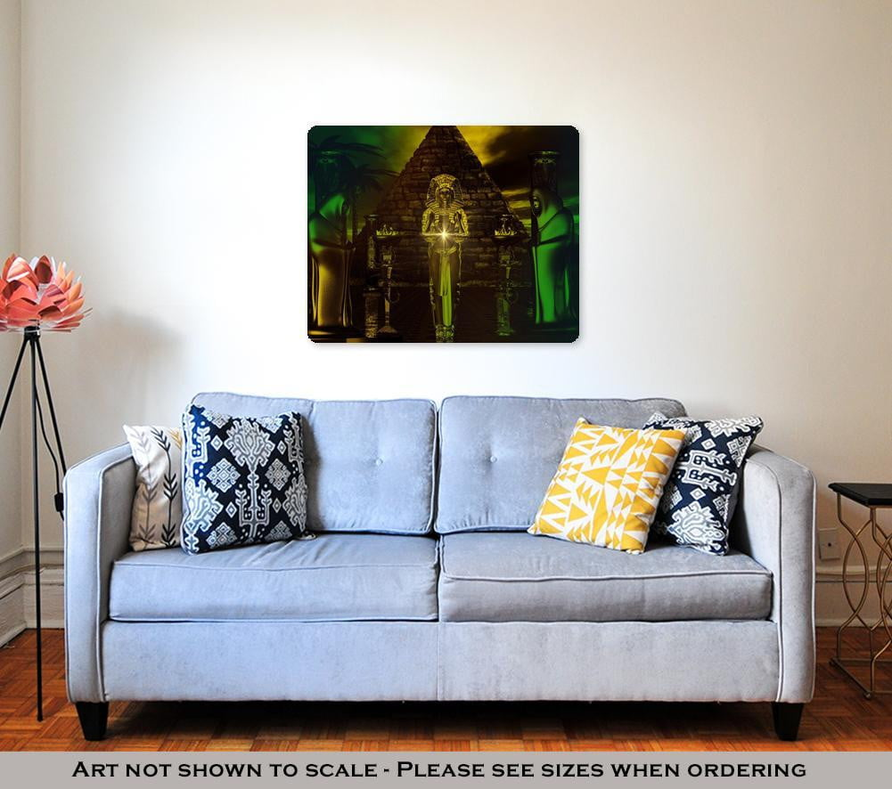 Metal Panel Print Egyptian Temple Haunting Digital Art