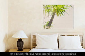 Gallery Wrapped Canvas, Tropical Palm Trees Branches Sun Light - melangebyojo