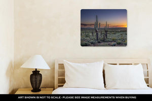 Metal Panel Print, Sunset Over The Phoenix Valley In Arizona