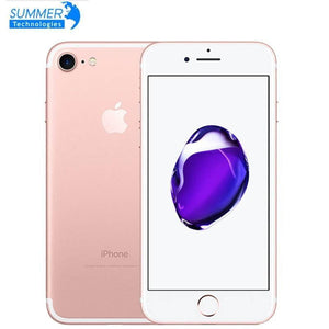 Apple iPhone 7  Original 4G LTE Mobile phone Quad Core 2GB RAM 32G/128/256GB IOS  12.0MP Fingerprint  Cell Phones - melangebyojo