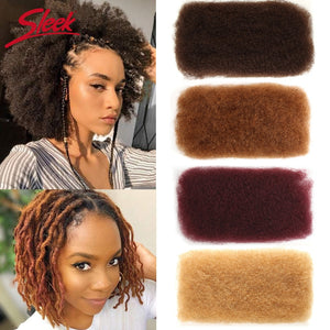 Sleek Brazilian Remy Hair Afro kinky Curly Bulk Human Hair For Braiding 1 Bundle 50g/pc Natural Color Braids Hair No Weft