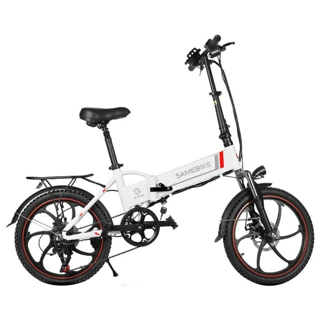 Samebike 20LVXD30 Smart Folding Electric Moped Bike 20 inch 350W 10Ah / 48V Li-ion battery 120kg  Adjustable heights