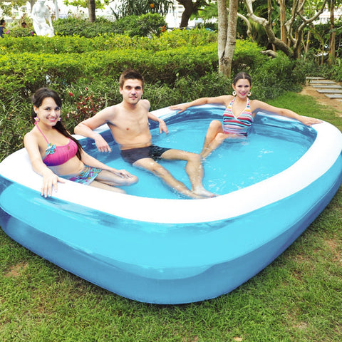 Summer Thickened Inflatable Swimming Pool Family Kids Children Adult Play Bathtub Outdoor Indoor Water Swimming Pool - Mélange Paris