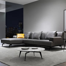 Italian Minimalist Leather Sofa Living Room couch set  Nappa Leather Corner Sofa Modern Simple modern couch