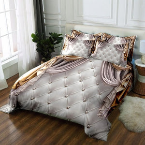 Luxury bed cover 3D bedding set Twin Full king Queen bedsheet Duvet Pillowcase Bed Linen California king European style decorate