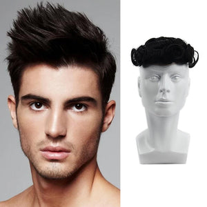 Neitsi 150% Density Mens Wigs Human Hair Toupees Swiss Lace Toupee Remy Natural Wave Hairpiece For Men FedEx Free Shipping