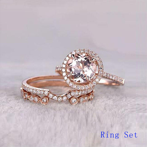 QYI Shiny SONA Stone Engagement Rings 10k Rose Gold Rings For Women Jewelry Anniversary Gift - Mélange Paris