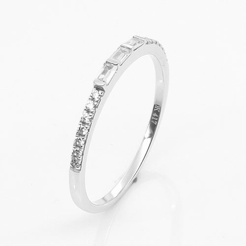 HELON Solid 10k White gold 100% Genuine AAA Graded Cubic Zirconia Engagement Wedding Ring Women Party Trendy Fine Jewelry