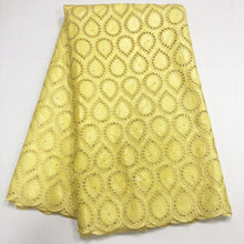 High quality cotton material free shipping DIY cloth lace fabric brocade laces fabris