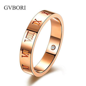 Luxury Men Ring GVBORI 18K Rose Gold Natural Diamond Ring For Lover Wedding/Anniversary/Gift/Party  Fine Jewelry Bridal Ring GIC