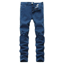 Designer Brand New Men Black Jeans Skinny Ripped Stretch Slim Fashion Hip Hop Swag Man Casual Denim Biker Holes jeans Pants