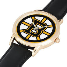 Genuine Leather, Water Resistance Golden Boston Bruin Watch - melangebyojo