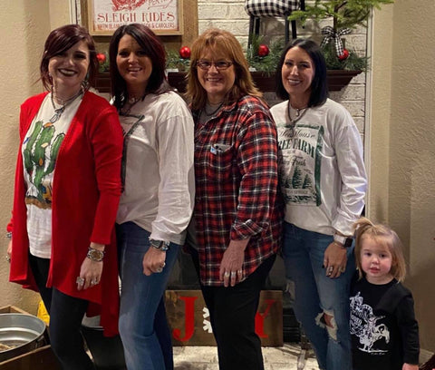 The ladies of The Hen House, Danielle Carlisle, Danette Rae, Janet Bolton, Jodi Bolton and Danielle's daughter. (Photo by The Hen House)