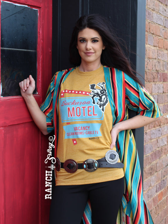 Buckaroo Motel Red and Turquoise