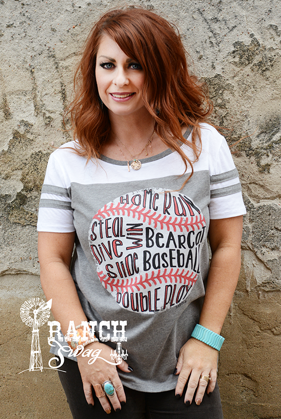 Baseball Words Tee