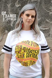 Softball Words Tee