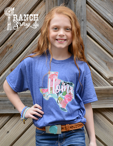 Texas Home - Floral - Kids