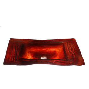 Red Dragon washbasin - AM studio glass design shop