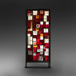 Cross-stitch. Red - AM studio glass design shop