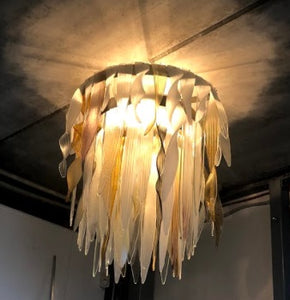 Icicle ceiling lamp - AM studio glass design shop