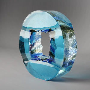 Square eye. Blue - AM studio glass design shop